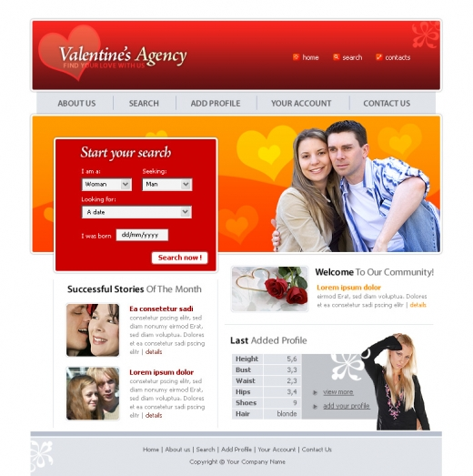 dating site template free - Acur.lunamedia.co